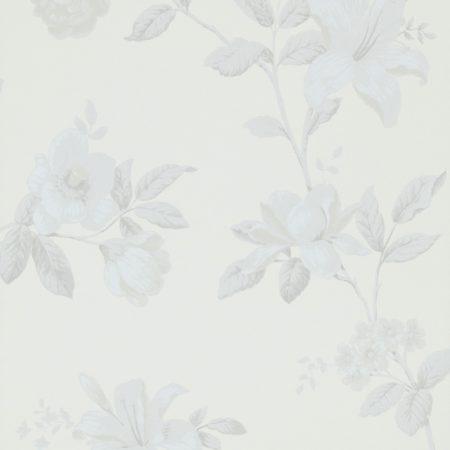 FLEUR ETE GRIS FOND BLANC – 17888