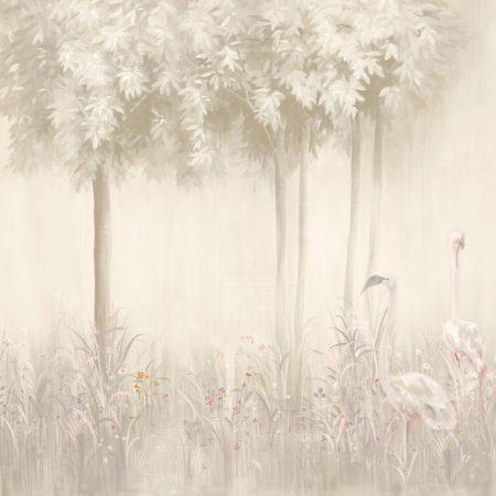 PANNEAU 5 LES MAGIC FORET FOND GRIS – 20122