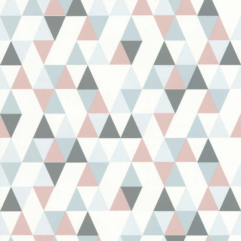 Papier peint TRIANGLE HEJ ROSE - 218183 de la collection papier peint Variations - Lutèce papier ...