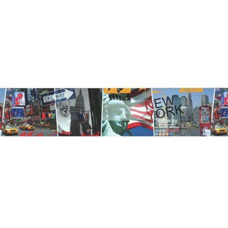 Frise adhésive NY SUBWAY MULTICOLORE -27130201