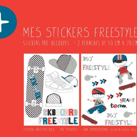 STICKER FREESTYLE BLEU – 27160101