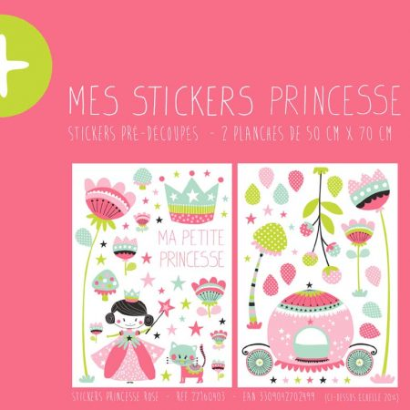 STICKER PRINCESSE ROSE – 27160403