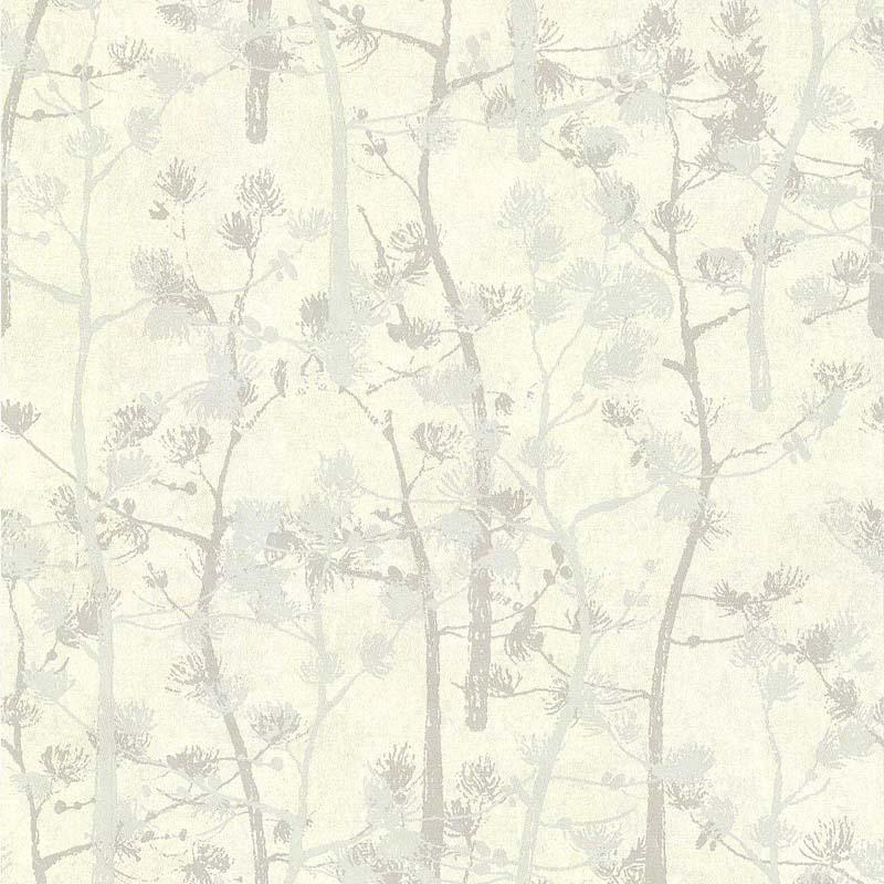papier peint motif arbre pin gris 28140109 de la. Black Bedroom Furniture Sets. Home Design Ideas