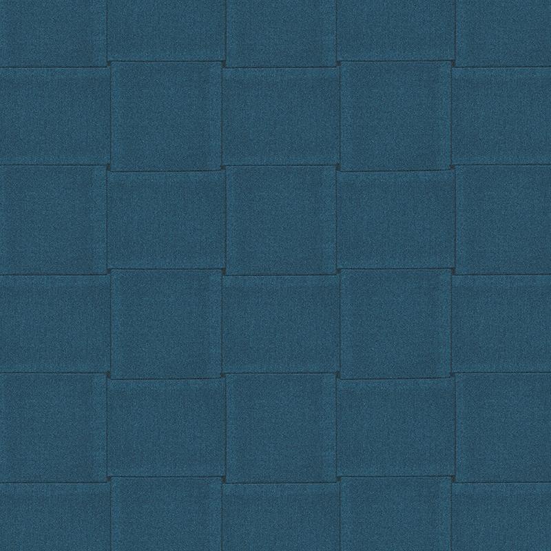 papier peint carre tresse bleu petrole 306492 de la collection papier peint daniel hechter. Black Bedroom Furniture Sets. Home Design Ideas