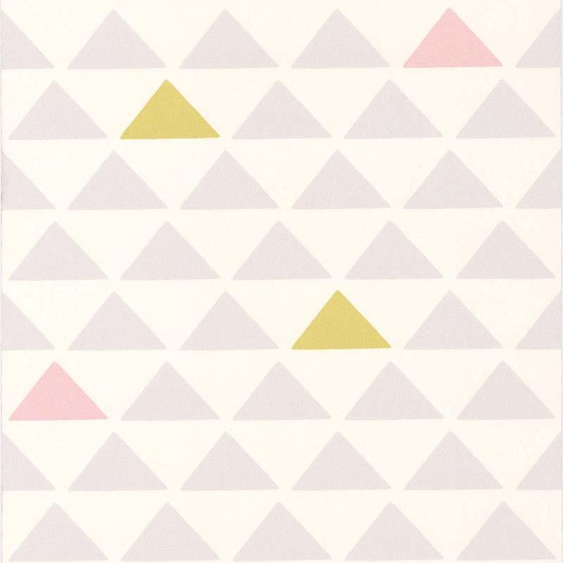 Papier Peint Triangle Bleu Gris 51145701 De La Collection Papier