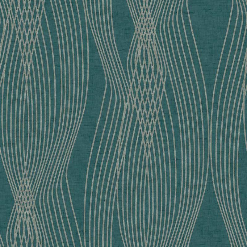papier peint ondulation vert canard fx90212 de la collection papier peint swatch lut ce. Black Bedroom Furniture Sets. Home Design Ideas