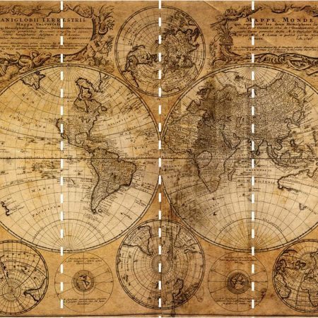 MAPS MURAL 4PANS DE  53CM – G45254