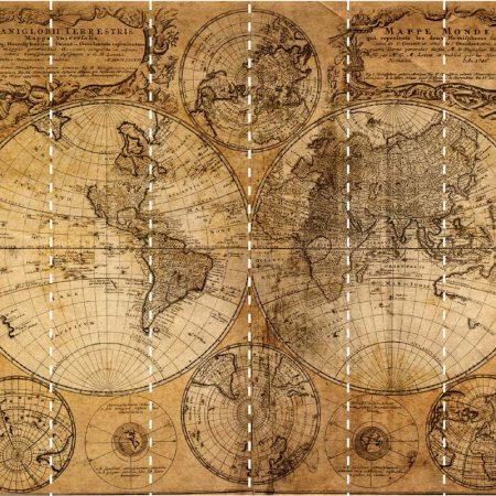 MAPS MURAL 6PANS DE 53CM – G45255