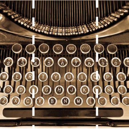TYPEWRITER MURAL 3PAN 53CM – G45256