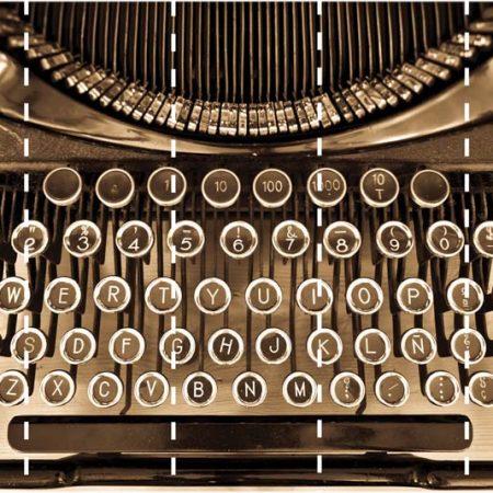 TYPEWRITER MURAL  5PAN 53CM – G45257