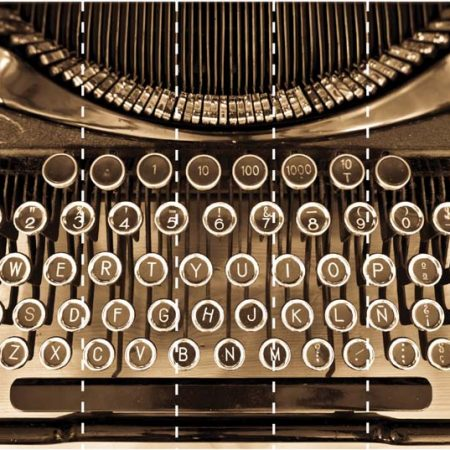 TYPEWRITER MURAL 7PAN 53CM – G45258