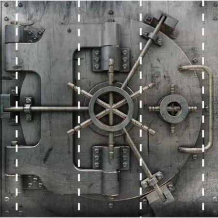 BANK VAULT MURAL 5PAN 53CM – G45260