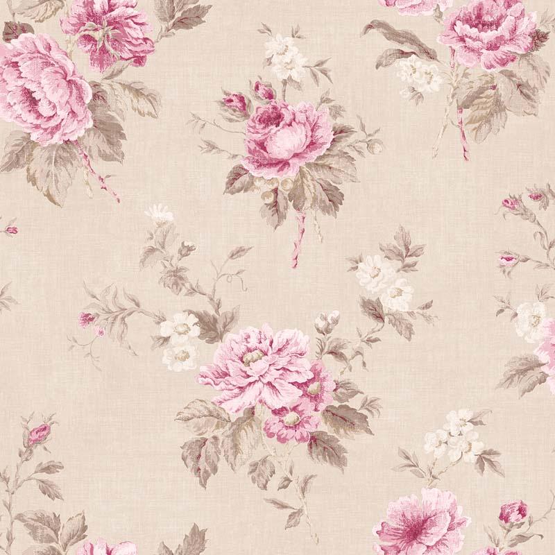 papier peint fleurs rose fd beige g67291 de la collection papier peint jardin chic lut ce. Black Bedroom Furniture Sets. Home Design Ideas