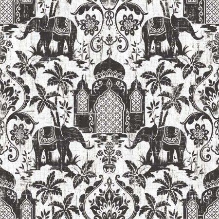 ELEPHANT NOIR FOND GRIS – G67364