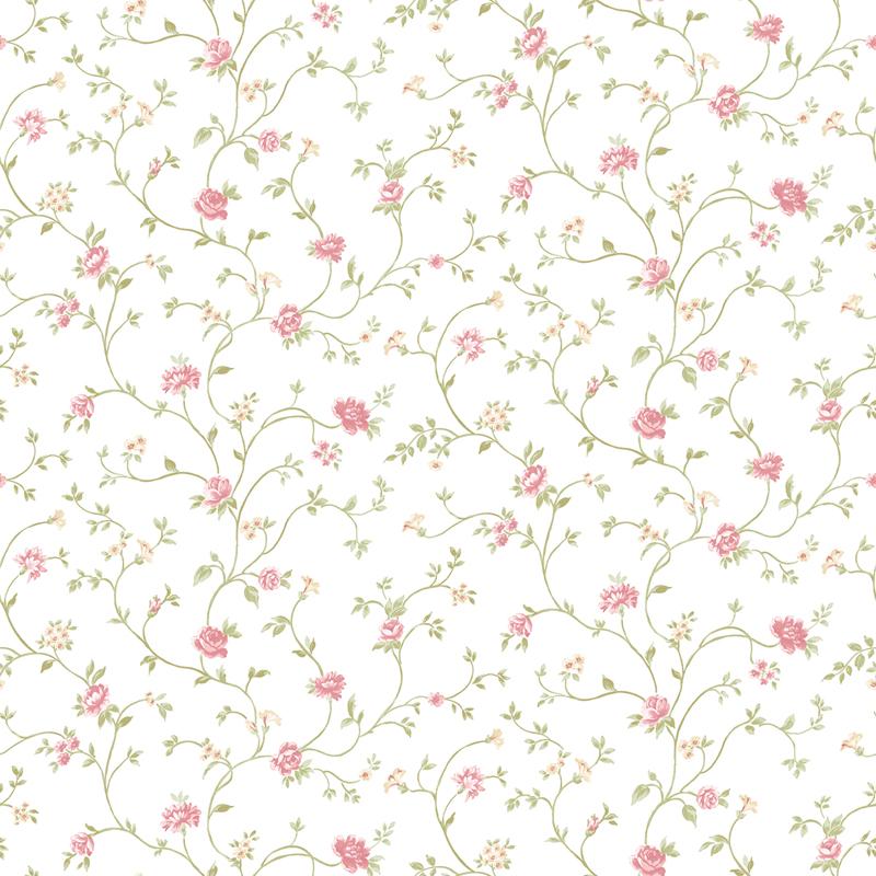 papier peint branche fleur rose pp27729 de la collection papier peint pretty prints 4 lut ce. Black Bedroom Furniture Sets. Home Design Ideas