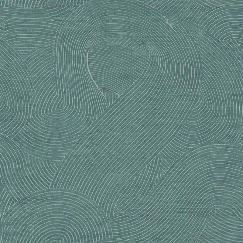 papier peint effet spirale vert canard tn50604 de la collection papier peint radiant lut ce. Black Bedroom Furniture Sets. Home Design Ideas