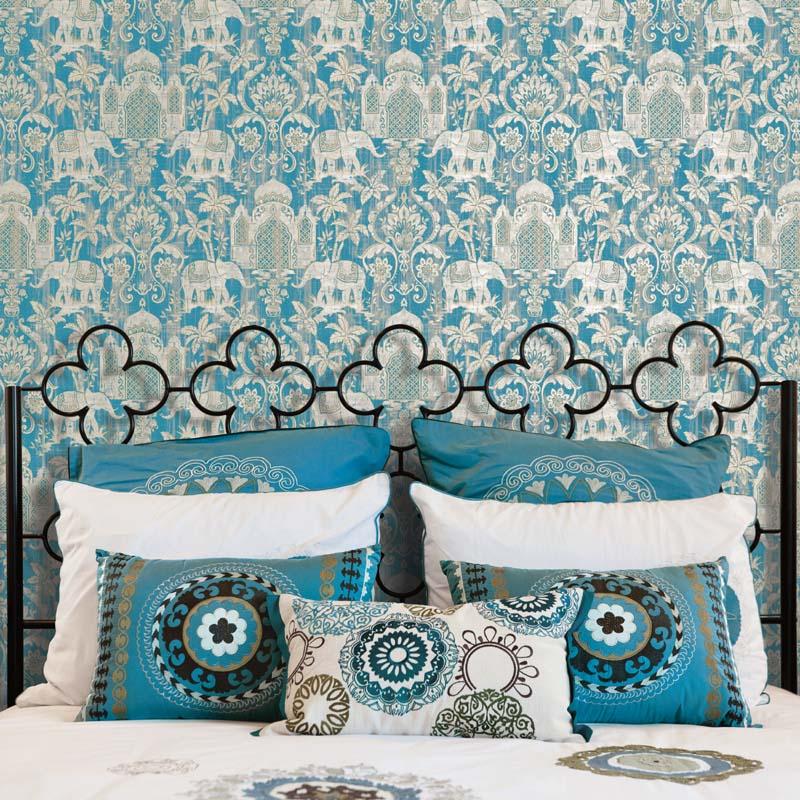 collection papier peint indo chic papier peint contemporain ornemental. Black Bedroom Furniture Sets. Home Design Ideas