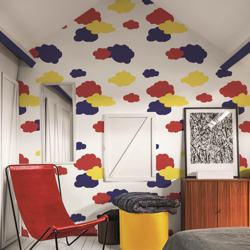 Original and trendy our wallpapers become bold trends tips lutece - Papier peint castelbajac ...