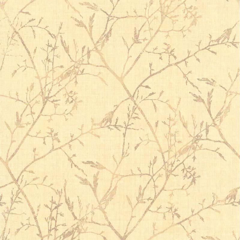 Papier Peint Feuillage Jaune Clair 28170102 De La Collection