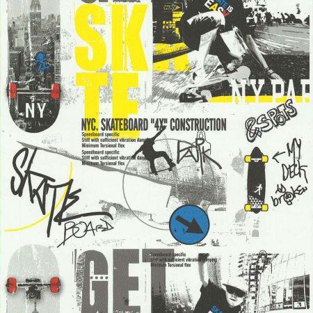 SKATE JAUNE/GRIS – 51140102
