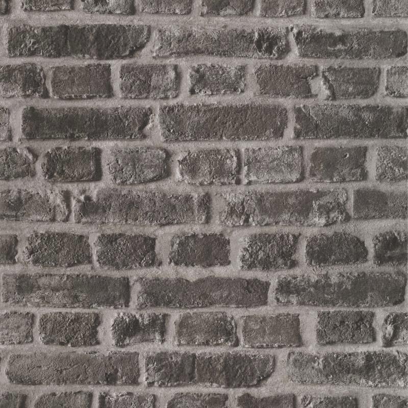Papier Peint Brique Sablee Gris Fonce 51151019 De La Collection