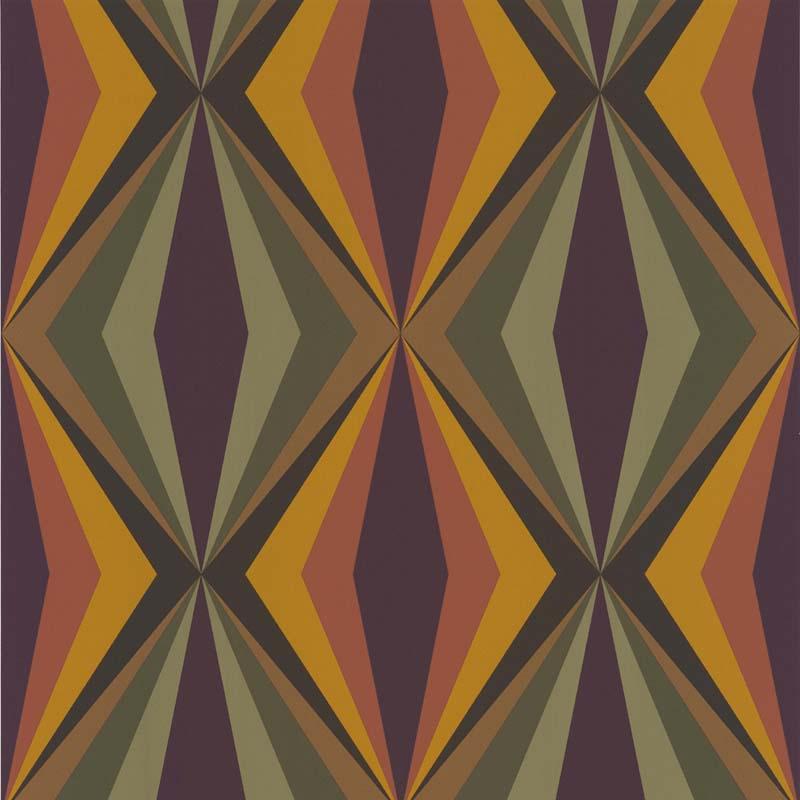 Papier peint losange vert jaune 51173004 de la - Papier peint losange ...