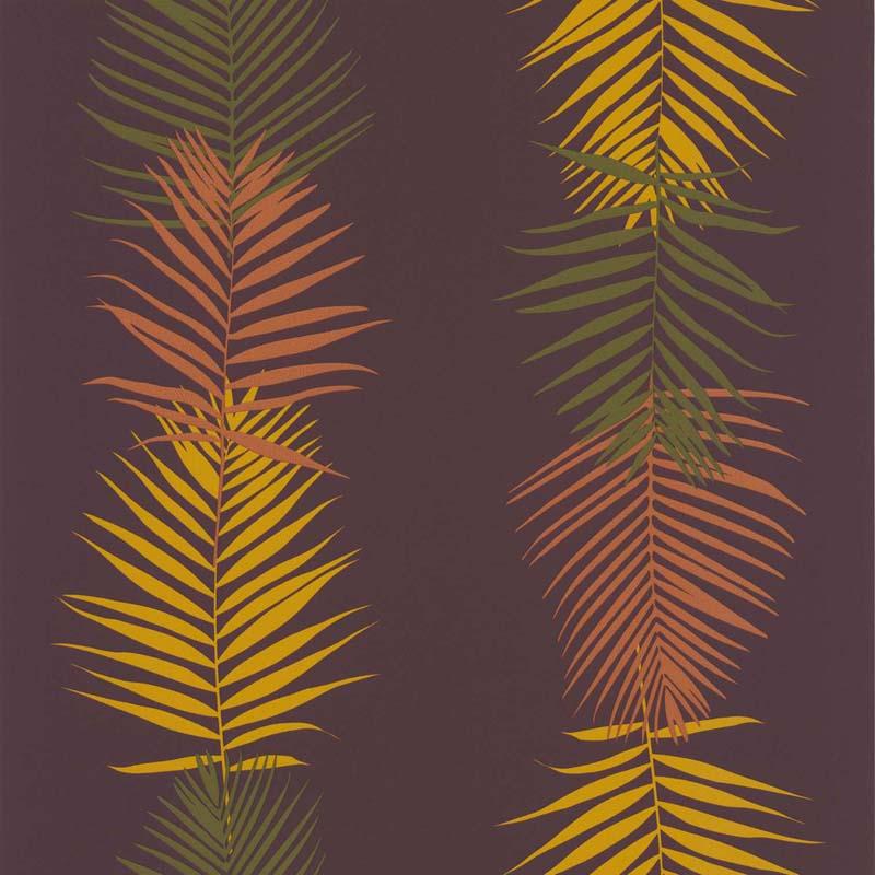 papier peint feuille palme prune 51173113 de la collection papier peint bensimon lut ce. Black Bedroom Furniture Sets. Home Design Ideas