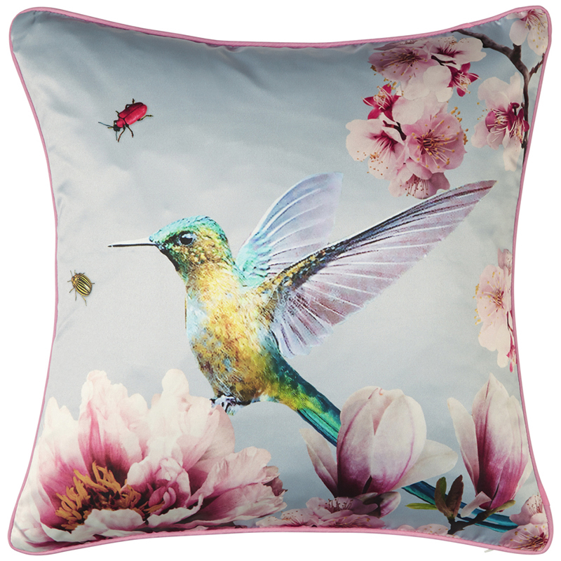 papier peint coussin oiseau exotique gris 62004767 de la collection papier peint exotix. Black Bedroom Furniture Sets. Home Design Ideas
