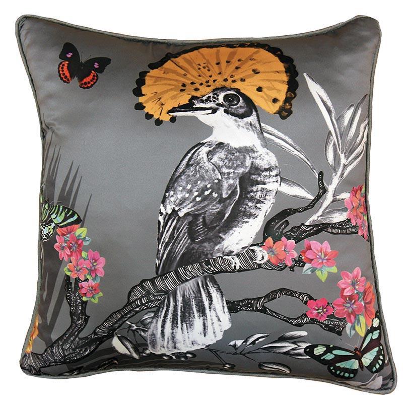 Papier Peint Coussin Oiseau Papillon Gris 62008291 De La