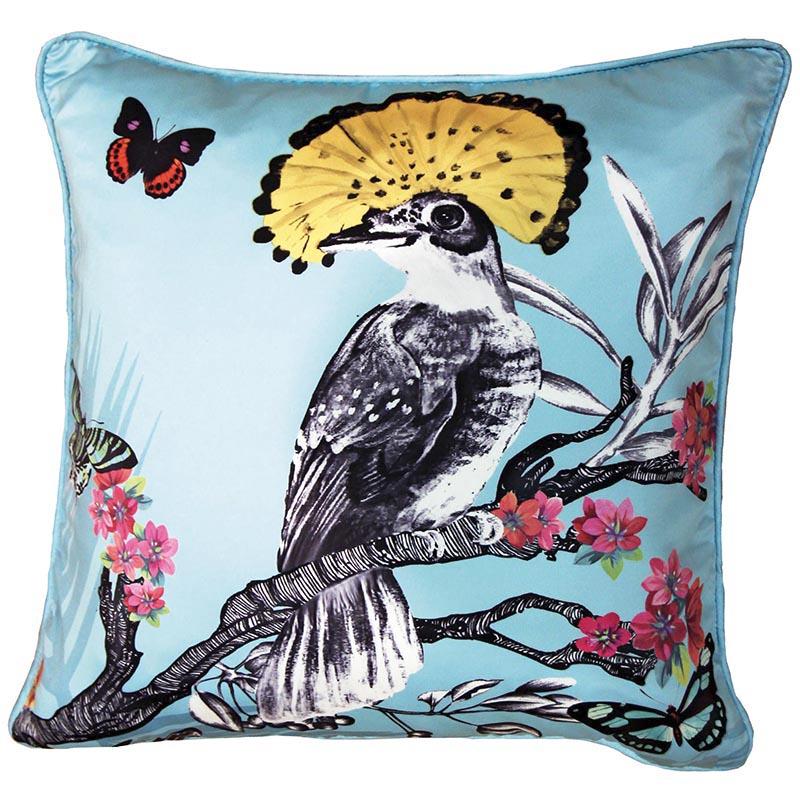 Papier Peint Coussin Oiseau Papillon Bleu 62008294 De La
