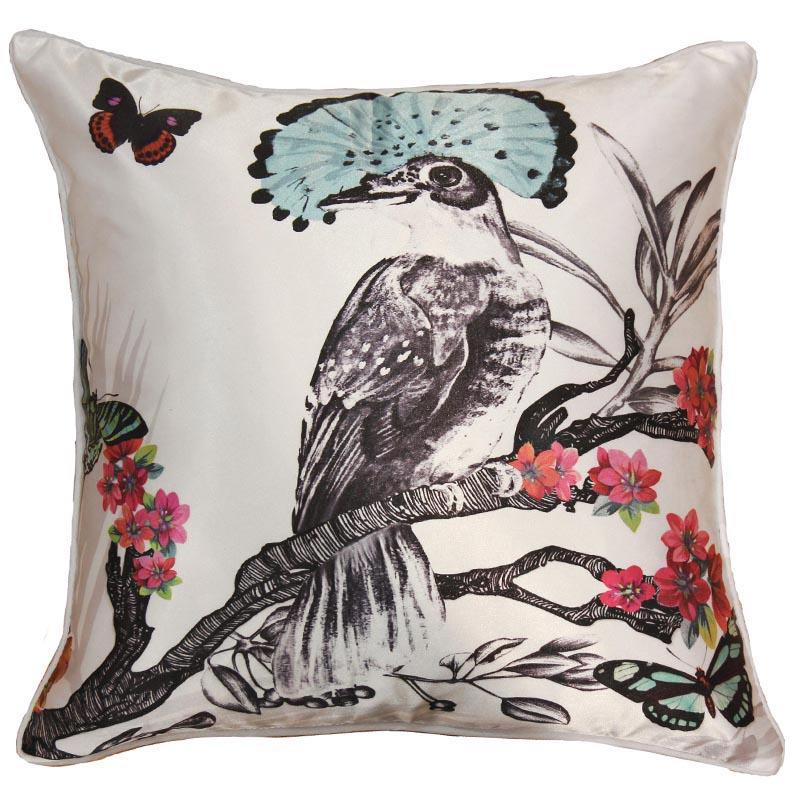 Papier Peint Coussin Oiseau Papillon Blanc 62008295 De La