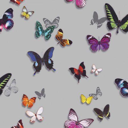 BUTTERFLIES FOND ARGENT – 62690400