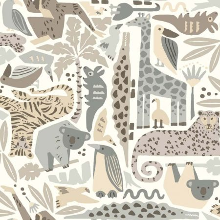 JUNGLE PUZZLE GRIS/BEIGE – DW2302