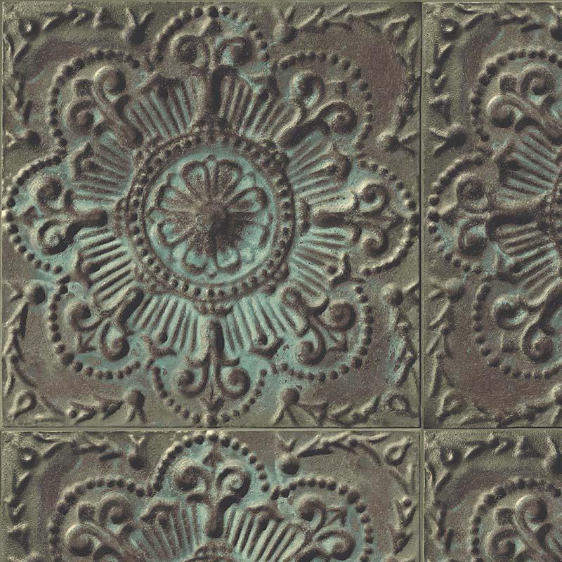 papier peint pave rosace malachite ir52004 de la collection papier peint structure lut ce. Black Bedroom Furniture Sets. Home Design Ideas