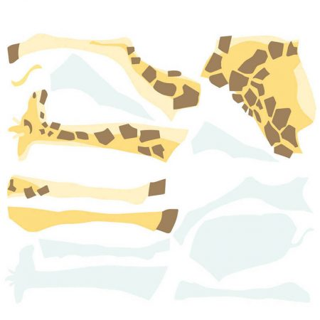 STICKER GIRAFE MARRON  – RMK3362G
