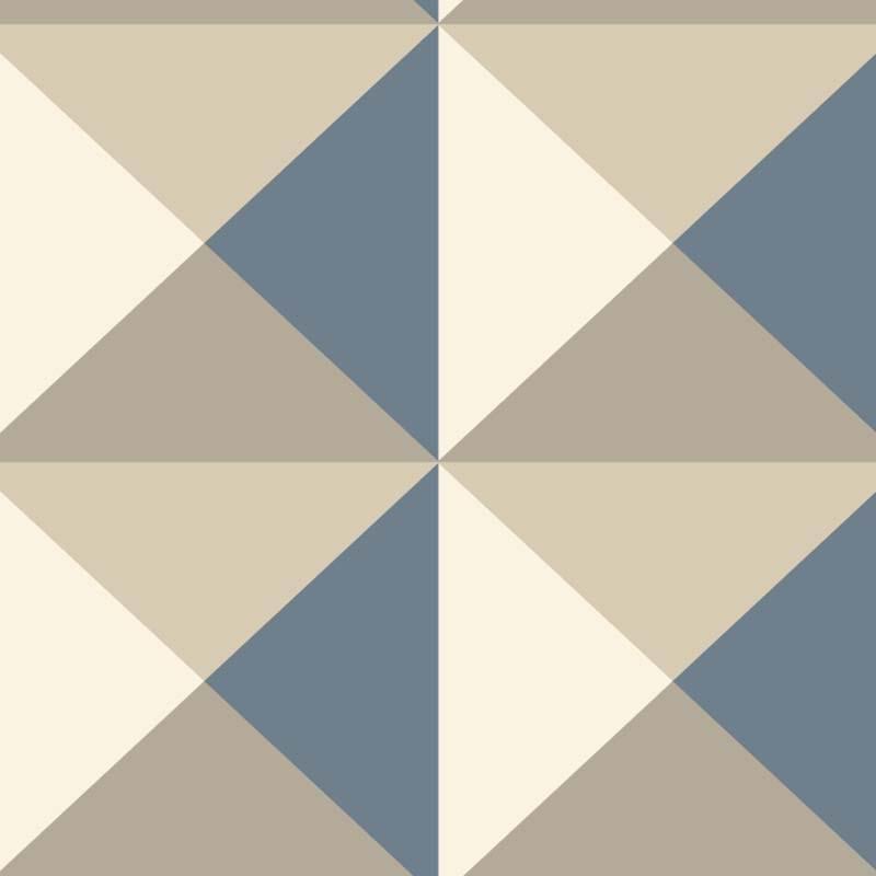 Papier Peint Origami Beige Bleu Ry2750 De La Collection Papier