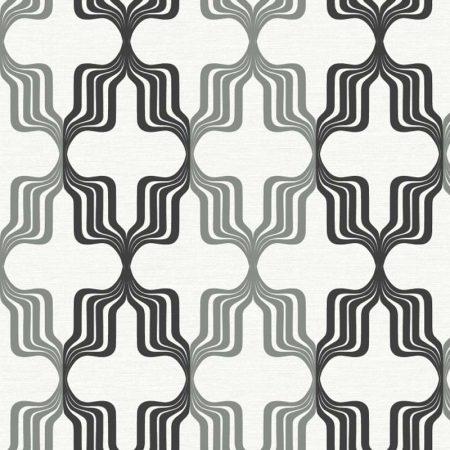 GEOMETRIQUE 70'S NOIR/GRIS – RY2784
