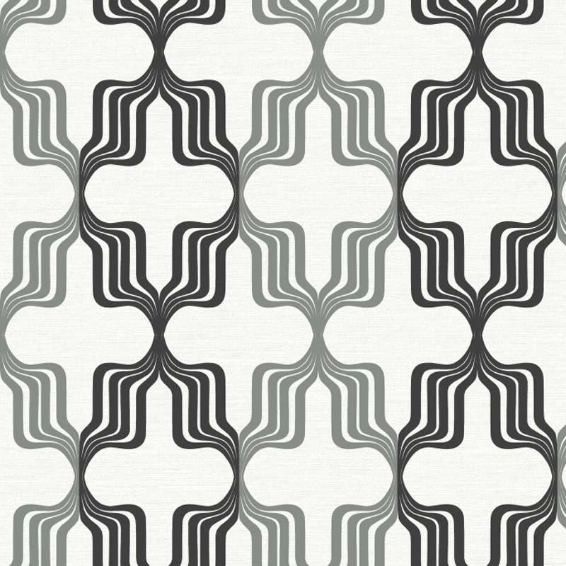 Papier Peint Geometrique 70 S Noir Gris Ry2784 De La