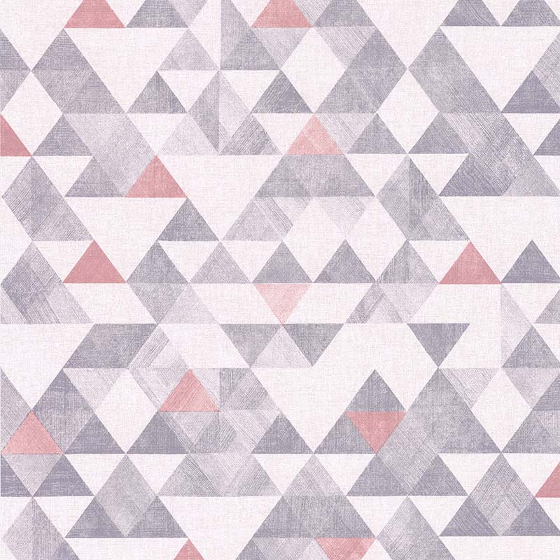 Papier peint TRIANGLE ROSE ET GRIS - 11170103 de la collection ...