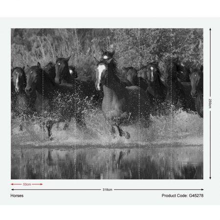 DECOR MURAL HORSES – G45278