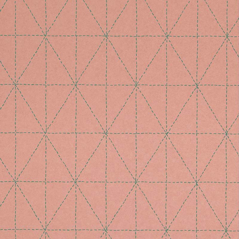 Papier Peint Geometrique Rose 219032 De La Collection Papier Peint