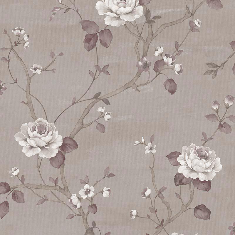 papier peint rosier bordeaux g67605 de la collection. Black Bedroom Furniture Sets. Home Design Ideas