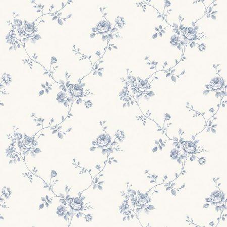 FLEUR BLEUE FOND BLANC – G67630