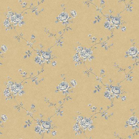 FLEUR BLEUE FOND AMBRE – G67634