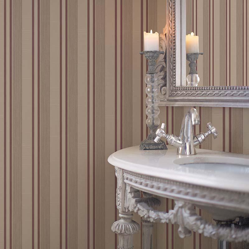 Palazzo | RAYURE BORDEAUX ET MARRON - G67626