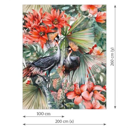 DECOR MURAL BIRD MULTICOULEUR – DD108525