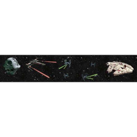 FRISE VAISSEAUX STAR WARS NOIR – DY0292BD