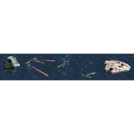 FRISE VAISSEAUX STAR WARS BLEU – DY0293BD