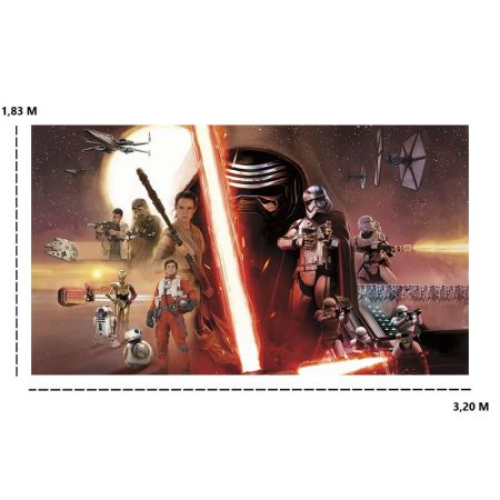 DECOR MURAL STAR WARS VII 7LES – JL1369M