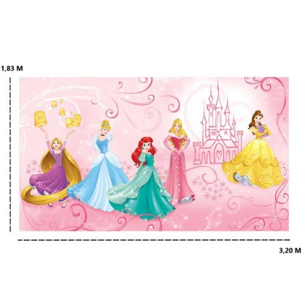 DECOR MURAL PRINCESSES DISNEY ENCHANTEES 7LES – JL1388M